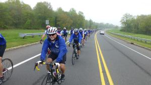 riders group on the road